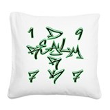 D.R. 77 Square Canvas Pillow