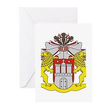 Hamburg Landeswappen Greeting Cards (Pk of 20)
