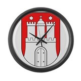 Hamburg Wappen Large Wall Clock