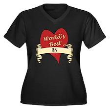 Unique Ob nurse Women's Plus Size V-Neck Dark T-Shirt