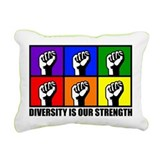 """Diversity"" Rectangular Canvas Pillow"