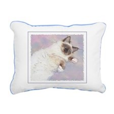 Funny Seal point Rectangular Canvas Pillow