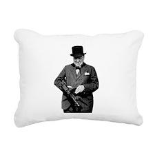 Churchill's Tommy Gun Rectangular Canvas Pillow