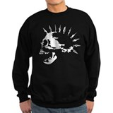 spike skull punk rock Sweatshirt
