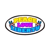 Peace Love Liberty Patches