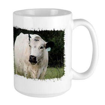 British White Cattle Herd - Large Mug
