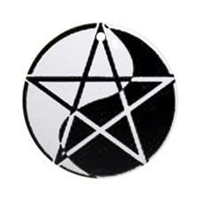 """Yin Yang Pentagram"" Ornament (Round)"