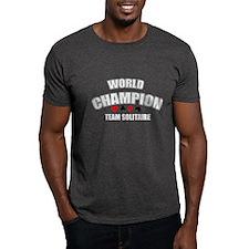 World Champ team solitaire white T-Shirt