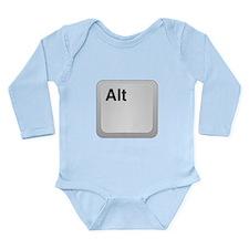 Keyboard Alt Key Long Sleeve Infant Bodysuit