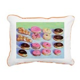 Donuts Rectangular Canvas Pillow