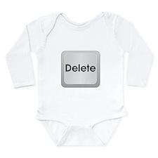 Keyboard Delete Key Long Sleeve Infant Bodysuit