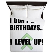 Level Up Birthday Queen Duvet