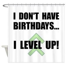 Level Up Birthday Shower Curtain