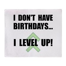 Level Up Birthday Throw Blanket