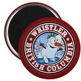 Whistler Snowman Circle Magnet