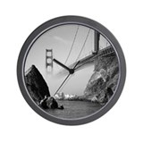 GOLDEN GATE FOG * Wall Clock