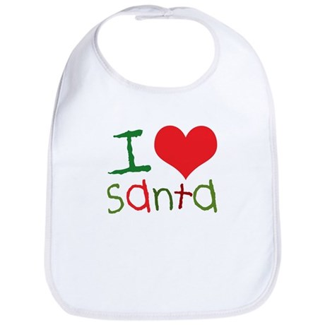 Kids I Love Santa Bib