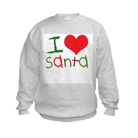 Kids I Love Santa Kids Sweatshirt