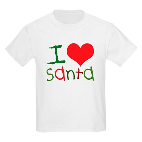 Kids I Love Santa Kids T-Shirt