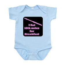 Flute I eat 16th notes for Breakfast Infant Bodysu