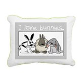 Cute bunnies Rectangular Canvas Pillow