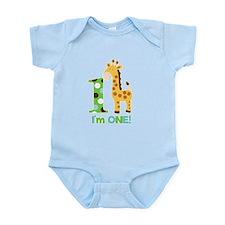 Giraffe Im One First Birthday Infant Bodysuit