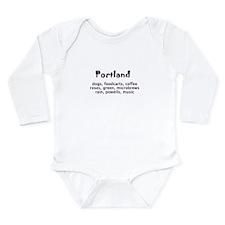 portland Oregon Long Sleeve Infant Bodysuit