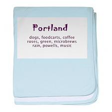 portland Oregon baby blanket