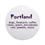 portland Oregon Ornament (Round)