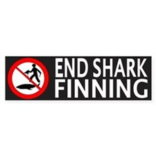 End Shark Finning Bumper Sticker