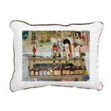 Barbados Rum Shop Rectangular Canvas Pillow
