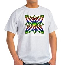 Rainbow Design Ash Grey T-Shirt