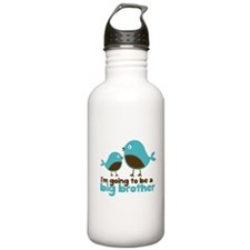 Blue Birds Im going to be a big brother Water Bottle