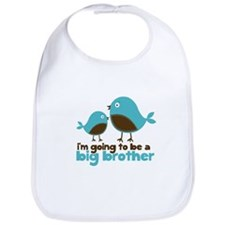 Blue Birds Im going to be a big brother Bib