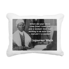 Lincoln with Sojourner Truth Rectangular Canvas Pi
