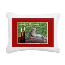 Happy Holidays Rectangular Canvas Pillow