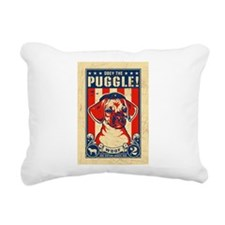 Obey the PUGGLE! Rectangular Canvas Pillow
