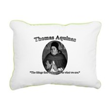 Thomas Aquinas 04 Rectangular Canvas Pillow