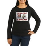 BUBBA CLINTON Women's Long Sleeve Dark T-Shirt