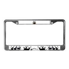 Mule deer oil painting License Plate Frame