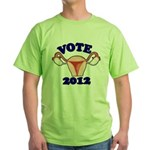 Uterus 2012 Green T-Shirt