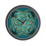 Teal Celtic Tapestry Wall Clock