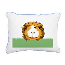 Guinea Pig Face Rectangular Canvas Pillow
