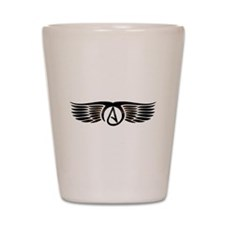Atheist Wings Shot Glass