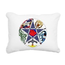 Celtic Pentagram Rectangular Canvas Pillow