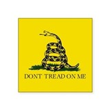 "Gadsden Flag Square Sticker 3"" x 3"""