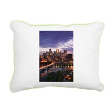 Cute Minneapolis art Rectangular Canvas Pillow