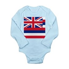 Hawaii Flag Long Sleeve Infant Bodysuit