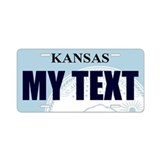 Kansas - State Seal aluminum license plate replica