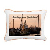 Jingletown Sunset Rectangular Canvas Pillow